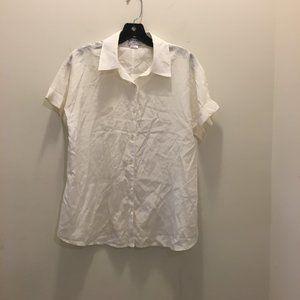 FRAME Button Front Silk Blend Shirt M